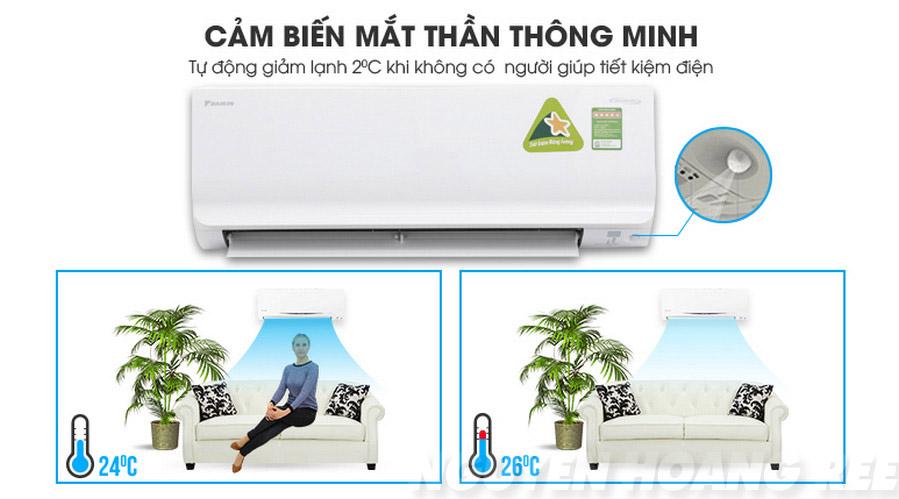 Máy lạnh Daikin Inverter FTKC25TVMV 1.0HP  cảm biến mắt thần thông minh