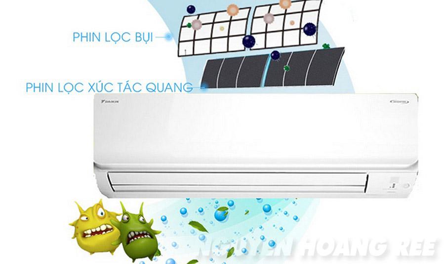 Máy lạnh Daikin Inverter FTKC25TVMV 1.0HP phin lọc khử mùi