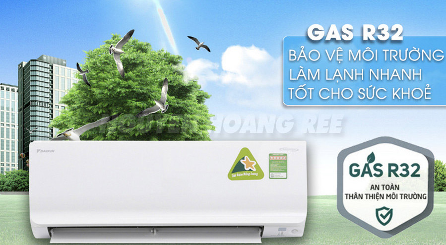 Máy lạnh Daikin Inverter FTKC25TVMV 1.0HP gas lạnh r32