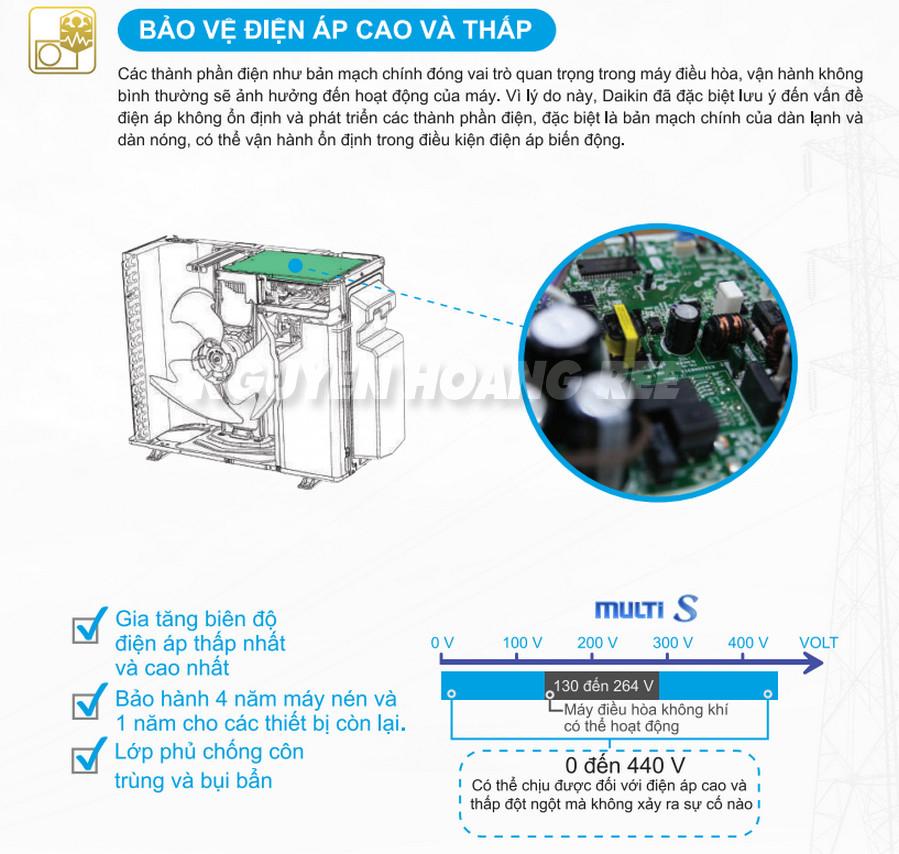 bảo vệ điện áp thấp điện áp cao multi daikin