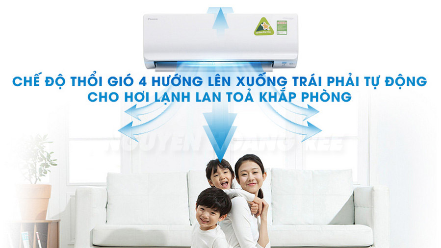 Máy lạnh Daikin Inverter FTKM35SVMV1.5 HP  đảo gió khắp phòng