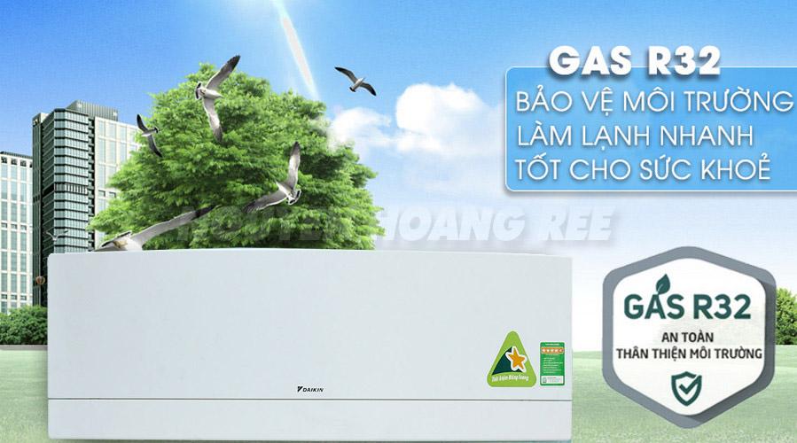 Gas R32 Daikin thân thiện môi trường