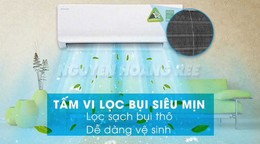 Máy lạnh Daikin Inverter FTKM35SVMV1.5 HP  lọc bụi