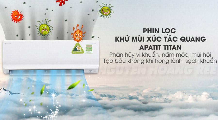 Máy lạnh Daikin Inverter FTKM71SVMV3.0 HP lọc bụi
