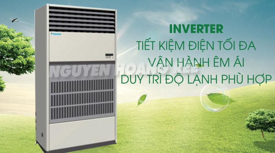 Máy lạnh tủ đứng đặt sàn thổi trực tiếp Daikin FVGR05NV1/RUR05NY1 tiết kiệm điện