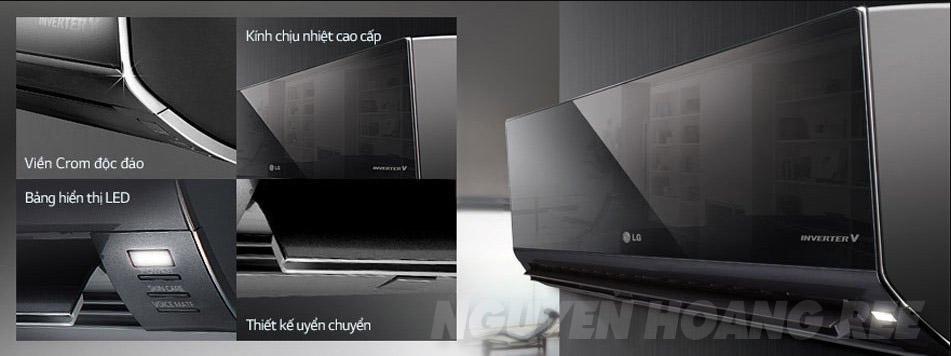 Máy lạnh LG V18BPB 1 HP màu đen