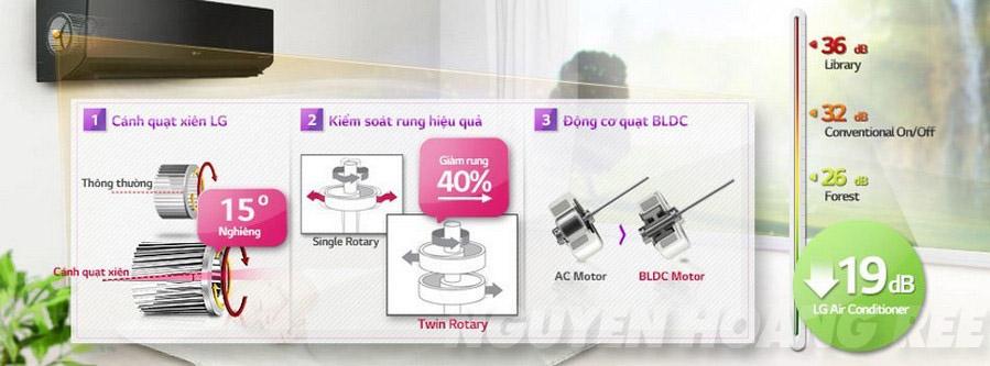 Máy lạnh LG V18BPB 2.0 HP độ ồn thấp