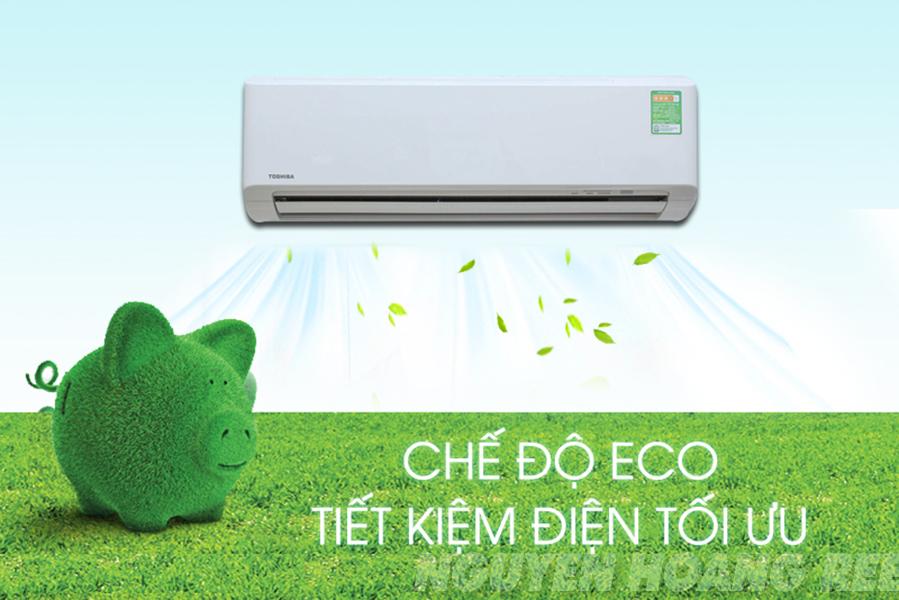 chế độ eco tiết kiệm điện Toshiba - Máy lạnh Toshiba 1,5 HP RAS-H13QKSG-V