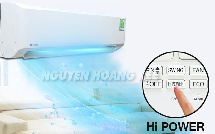 chế độ hi power làm lạnh nhanh máy lạnh toshiba - Toshiba 1,5 HP RAS-H13QKSG-V