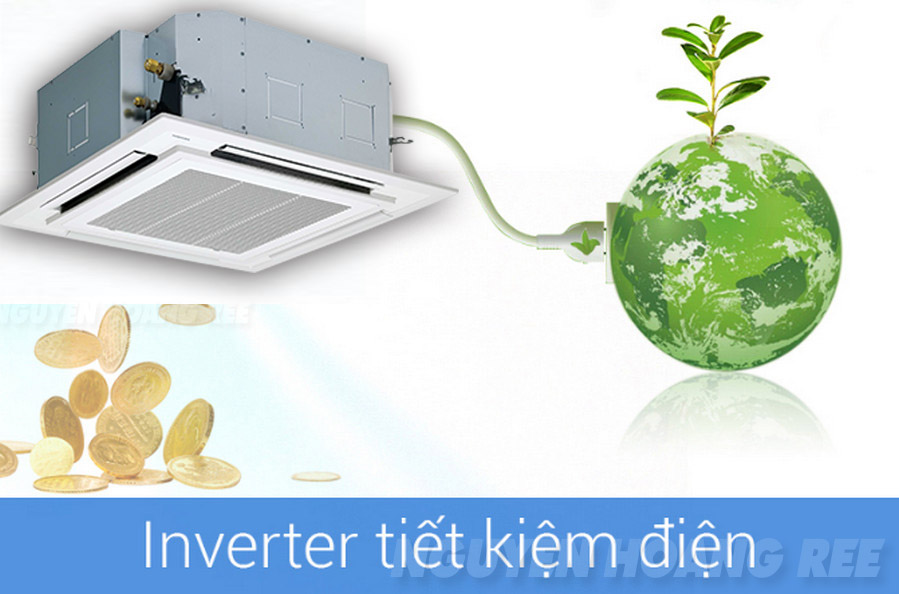 Máy lạnh Cassette âm trầnToshiba InverterRAV-SE1001UP  tiết kiệm điện năng