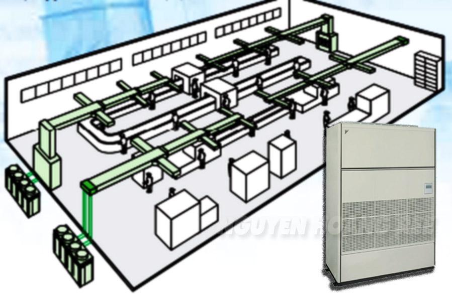 Tủ đứng nối ống gió Daikin FVPGR13NY1/RUR13NY1 giải pháp cho nhà xưởng