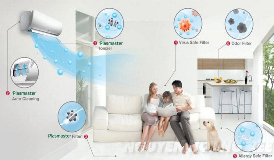Máy lạnh LG Dual Inverter V13ENS1.5HP  tự làm sạch