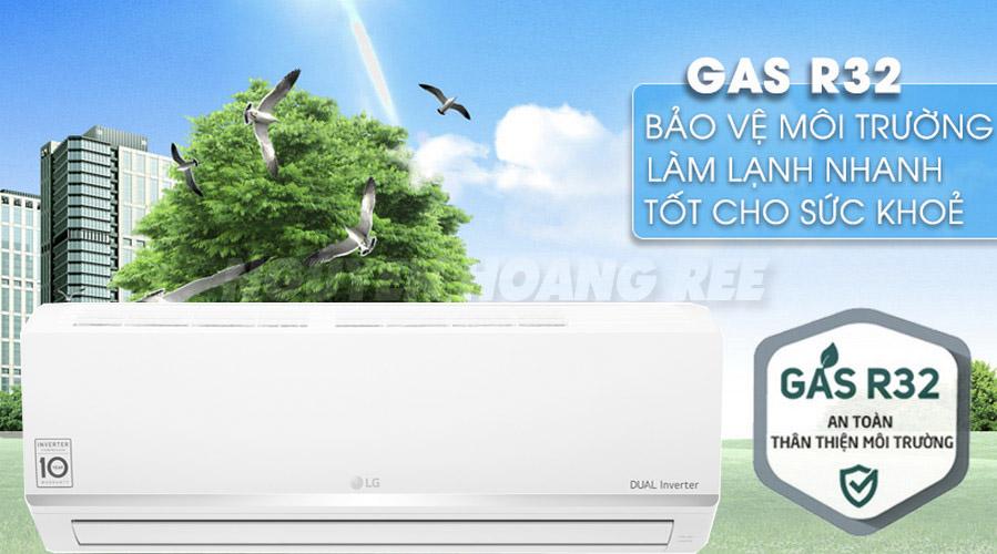 máy lạnh LG V10ENW1.0HP gas r32