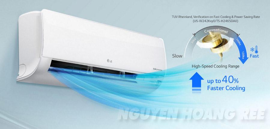 Máy lạnh LG Dual Inverter V13ENS1.5HP  làm lạnh nhanh