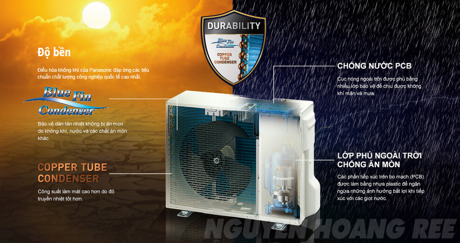 Máy lạnh Panasonic CU/CS-XU9UKH-8 Inverter 1.0 HP dan nong bền bỉ