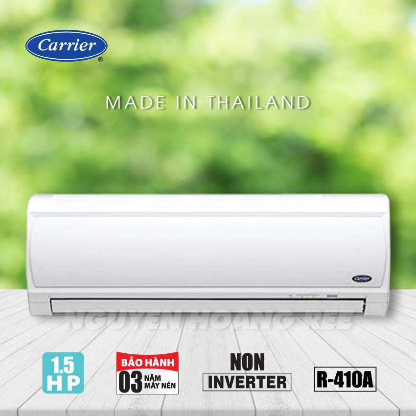 Máy lạnh Carrier 1.5  HP  38/42 CER013 [ Non -  Inverter - Gas R410A ]